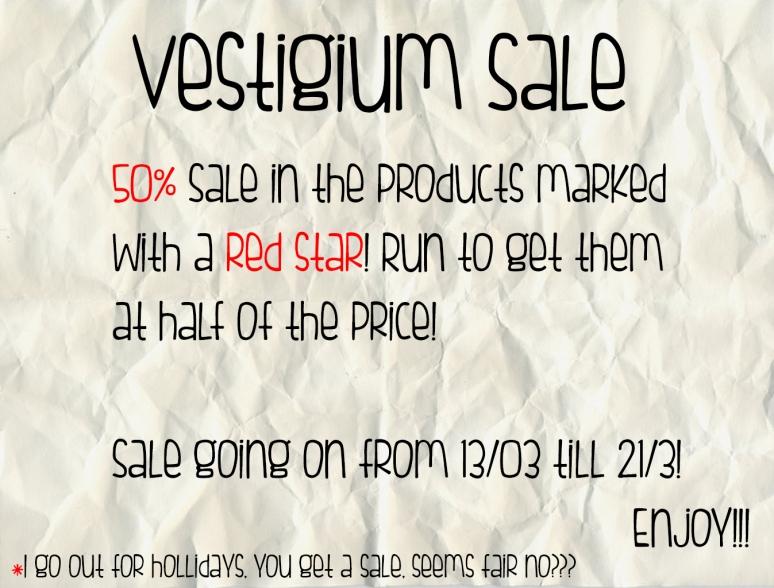 Vestigium Sale