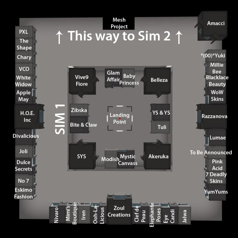 The Skin Fair 2014 - Map - Sim 1